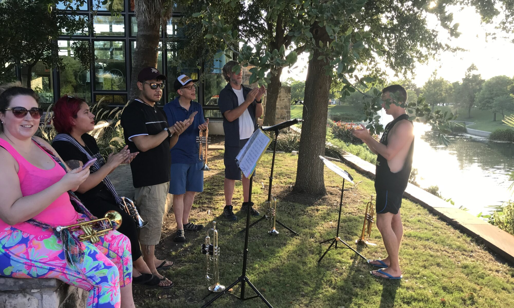 Trumpet sectional at Mueller Lake
